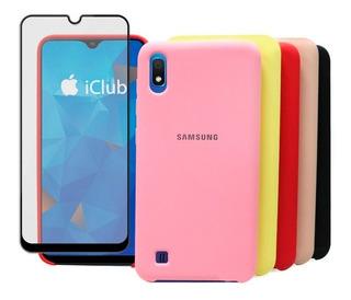 Funda Silicone Cover Samsung Galaxy A30 A20 +vidrio Completo