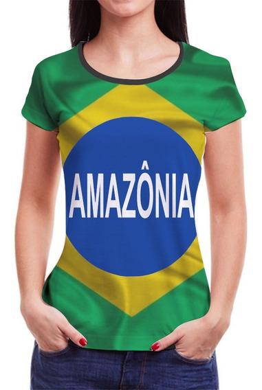 Camiseta Amazonia Feminina Camisa Roupas Blusa 3d