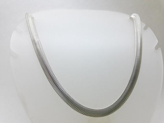 Corrente De Prata Flat Snake Chain