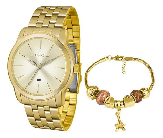Kit Relógio Fem Lince Puls Aço Inox 50m Lrg4551l-ku88c1kx