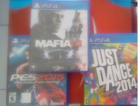 Pct De Jogos Ps4 - Mafia 3- Just Dance 2014- Pes 2015
