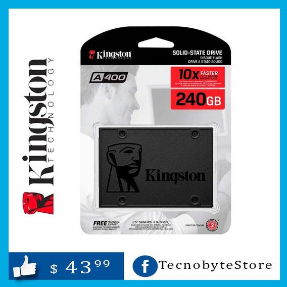 Ssd 240gb Disco Estado Solido Kingston A400 Para Laptop Y Pc