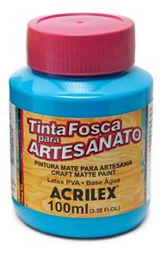 Tinta Pva Acrilex Fosca P/ Artesanato 100 Ml Cores Sortidas