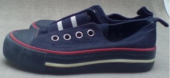 Zapatillas H&m Azules Sin Cordones Us 7 Numero 23