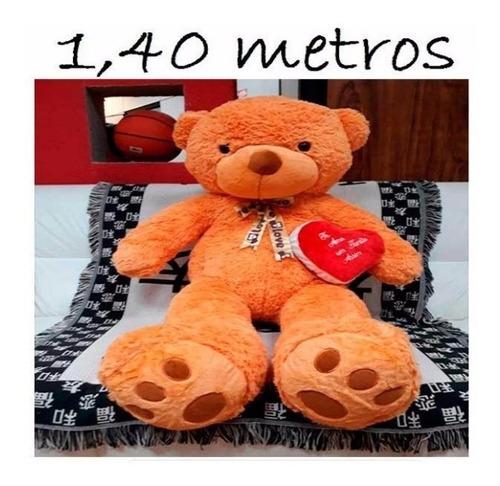 Imagem 1 de 7 de Urso De Pelúcia 140cm 1,40 Mt Enchimento Cheio Antialérgico