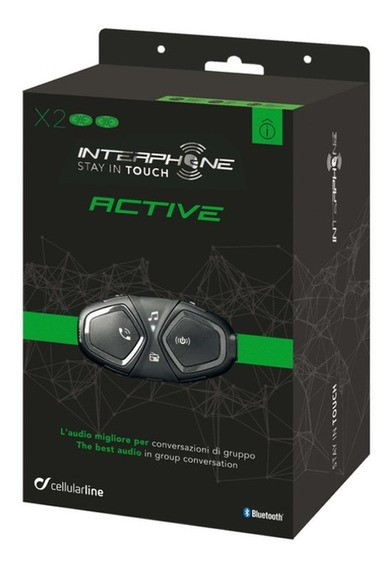Intercomunicador Capacete Interphone Active Duplo 2020