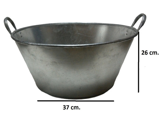Paila Cazo Para Chicharrones Carnitas Galvanizada 50 Cm.