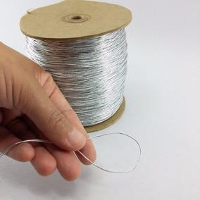 Cordão Fio Metalizado 0,5mm Prata 20 Metros Promoção