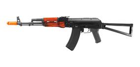 Rifle De Airsoft Aeg Ak74m C/ Mount Full Metal Madeira - Aps