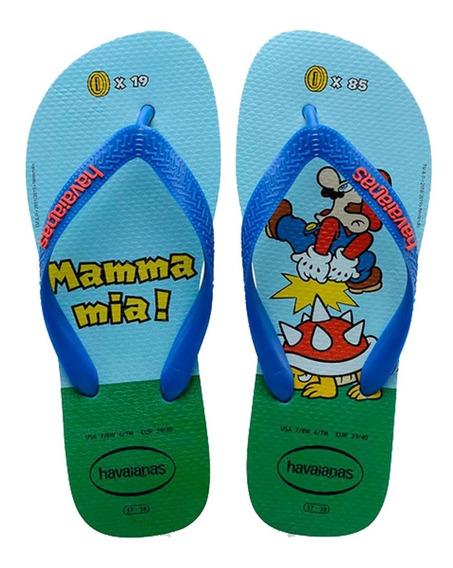 Chinelo Masculino Havaianas Mario Bros, Original, Promoção