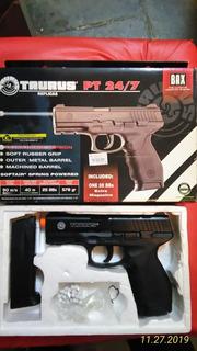 Pistola Pt 24/7 Taurus Airsoft Spring(black Friday)