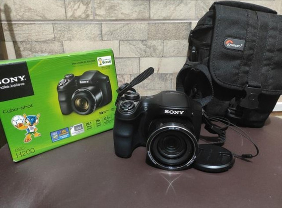 Câmera Semi Profissional Sony Cyber Shot Dsc H200
