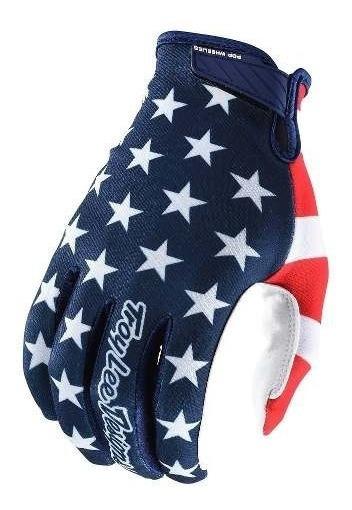 Guantes Motocross Troy Lee Air Americana Azul Marino/rojo