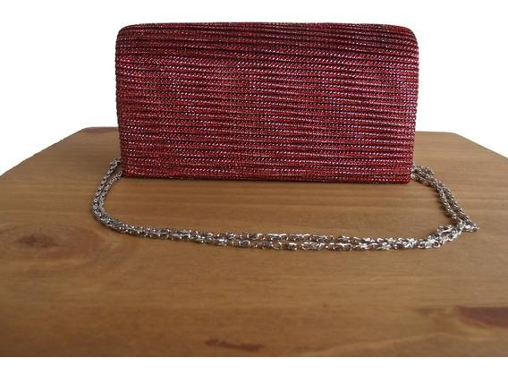 Bolsa De Mão De Festa Alça Marsala Nude Dourada Vermelha