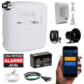 Kit Alarme Wifi Com Discadora Sensor De Presença Completo