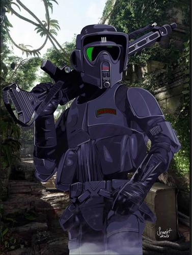 Imagem 1 de 1 de Fanart Exclusiva - Scout Trooper