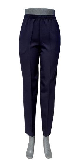 Pantalón De Vestir Con Resorte En Cintura, Con Bolsas