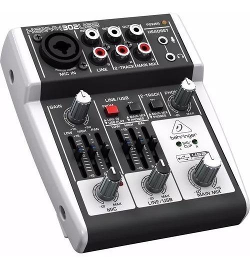 Mesa De Som Behringer Xenyx 302 Usb Mixer Compacto