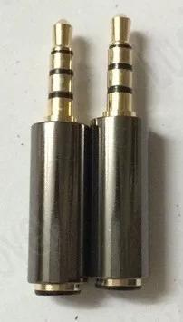 Plug Adaptador P2 Macho 4 Polos X P2 Fêmea 3 Polos Fone