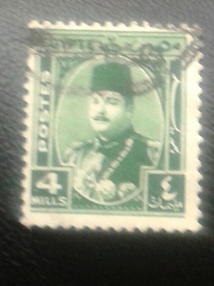 Estampilla De Egipto. Rey Faruk