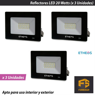 Reflector Led Proyector Etheos 20 Watts X 3 Unidades