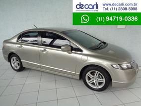 Honda Civic 1.8 Exs Automatico (flex) Dourado - 2007/2007