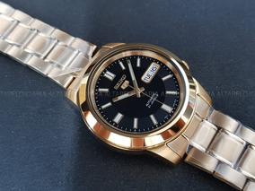 Relógio Seiko Automático Clássico Plaque Ouro Snkk22k1