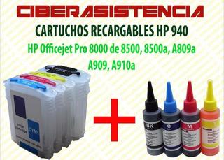 Cartuchos Recargables Hp 940 Para 8000 8500, 8500a, A809a