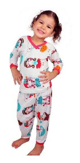 Kit 7 Pijamas Menina Infantil Baby Bom Preço Atacado