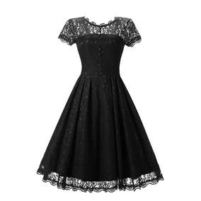 b2b84a914 Vestido Preto De Renda Audrey Hepburn - Vestidos Femeninos Casual ...