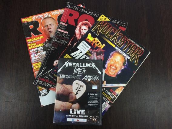 Metallica Big 4 Edic Nac+ 3 Revistas Españolas Oferton!!!!!