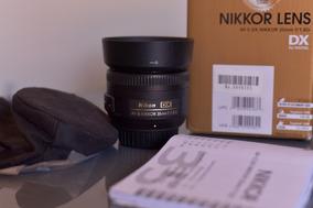 Lente Nikon Af-s Dx Nikon 35mm F/1.8g - Zerada Na Caixa