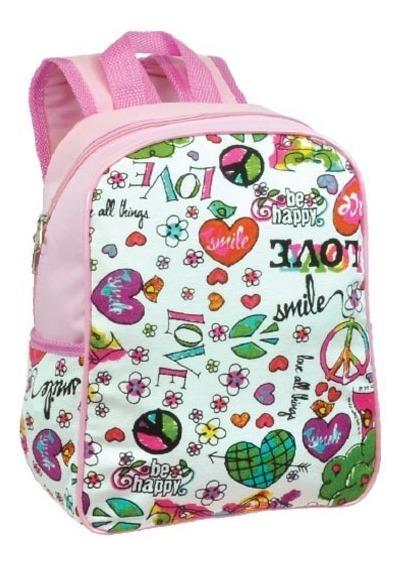Mochila Bag Mamãe E Bebê Pequena Infantil Passeio Rosa 6655