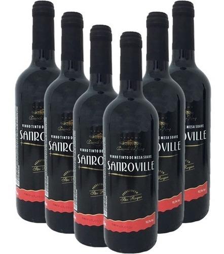 Imagem 1 de 1 de Vinho Tinto Suave Sanroville 750ml (6 Garrafas)