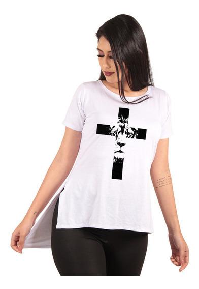 Blusa Camisa Camiseta Long Feminina Estampada Alongada