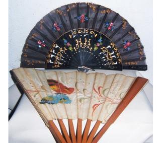 Historical*- Lote 2 Abanicos Antiguos De Colección -envío
