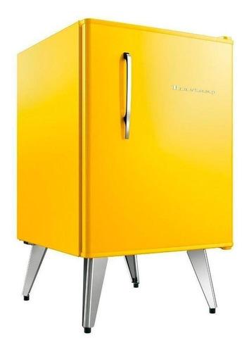 Geladeira/refrigerador 76 Litros 1 Portas Amarelo Retrô - Brastemp - 110v - Bra08ayana
