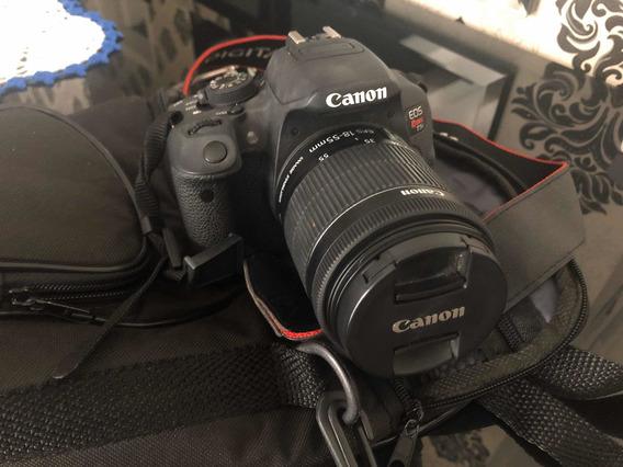 Câmera T5i Com Bolsa, Tripé, Carregador E Cartão De Memória