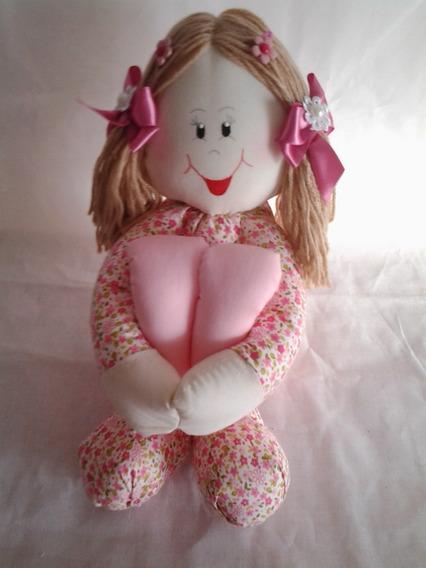 Boneca Artesanal De Pano Pernuda Decoração Quarto De Bebe