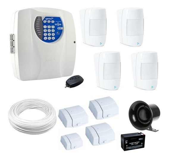 Alarme Residencial Kit Completo Genno