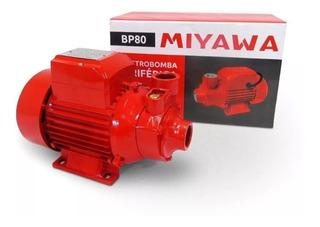 Electrobomba Periférica Bp 80 Miyawa 1hp Caudal Max. 45l/m