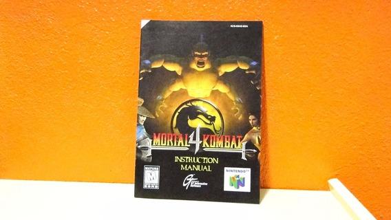 Manual Original- Mortal Kombat 4- N64