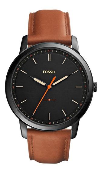Reloj Caballero Fossil Fs5305 Color Café De Piel