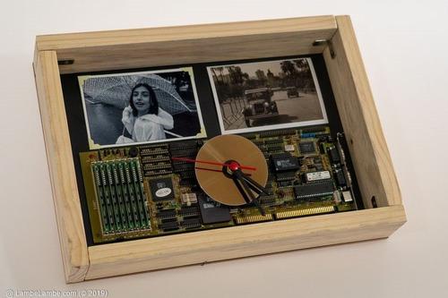 Relógio De Parede Porta-retrato Cd/dvd, Placa Mãe Pc I386dx