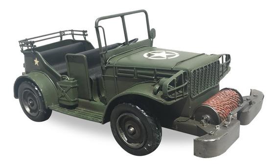 Camion Militar Verde En Miniatura Coleccionable