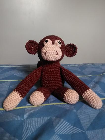 Amigurumi Crochê Macaco Loco Boneco De Pelúcia Promoção