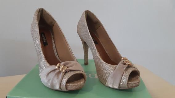 Sapato Feminino Festa Dourado Crysalis