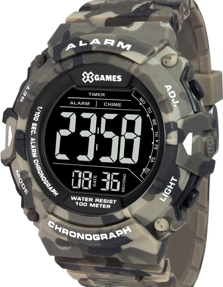 Relógio X-games Masculino Digital Xmppd488 Pxep - Camuflado