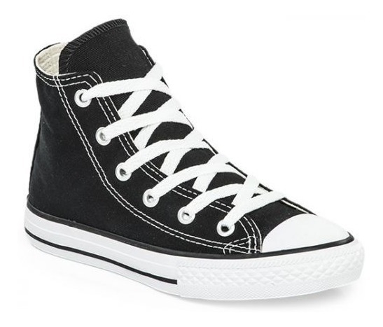 Botitas Converse All Star Negro Blanco Niño Exclusivas