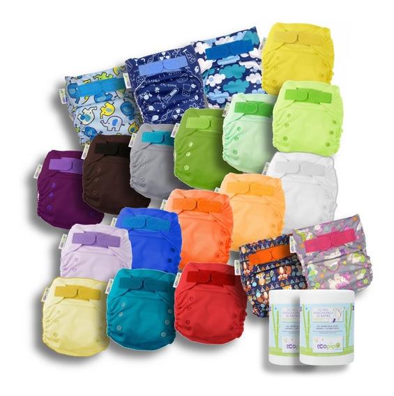 20 Pack Ecopipo 15 Lisos + 5 Estampados + 2 Filtros -12%